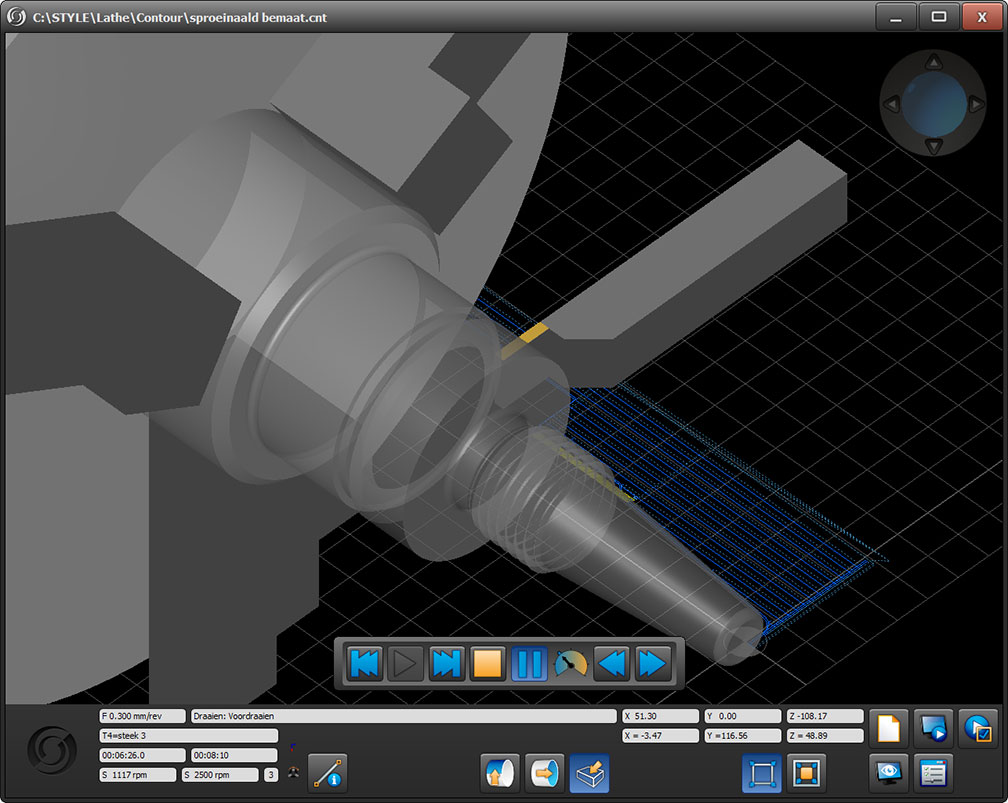 Nozzle simulation
